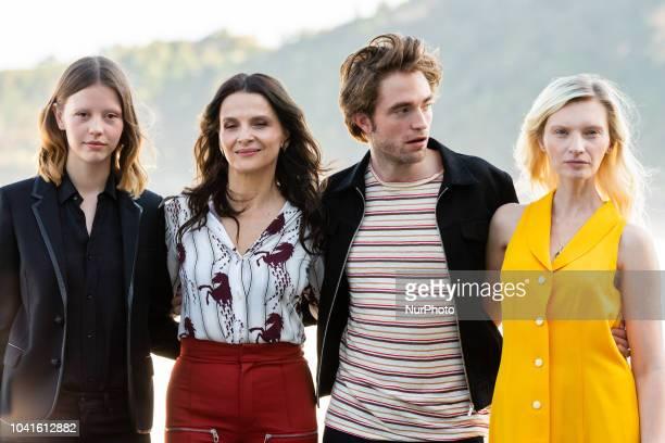 Mia Goth Juliette Binoche Agata Buzek and Robert Pattinson attend 'High Life' photocall during 66th San Sebastian Film Festival on September 26 2018...