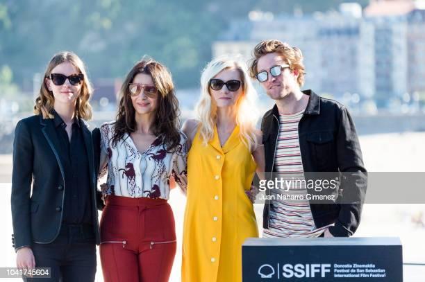 Mia Goth Juliette Binoche Robert Pattison and Agata Buzek attend the 'High Life' photocall during the 66th San Sebastian International Film Festival...