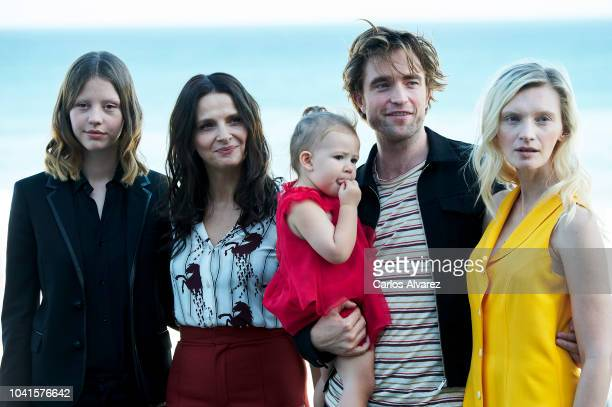Mia Goth, Juliette Binoche, Scarlett Lindsey, Robert Pattinson and Agata Buzek attend the 'High Life' photocall during the 66th San Sebastian...