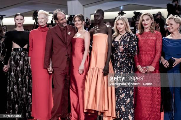 Mia Goth Tilda Swinton Luca Guadagnino Dakota Johnson Alek Wek Chloe Grace Moretz Fabrizia Sacchi and guest walk the red carpet ahead of the...