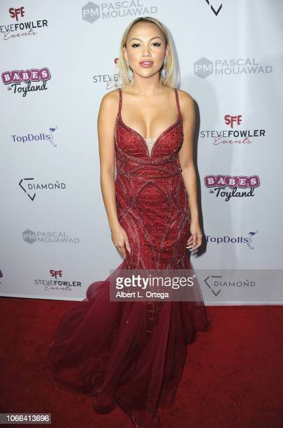 """Mia Gray arrives for the 11th Annual """"Babes In Toyland"""" Charity Toy Drive held at Avalon on November 28, 2018 in Hollywood, California."""