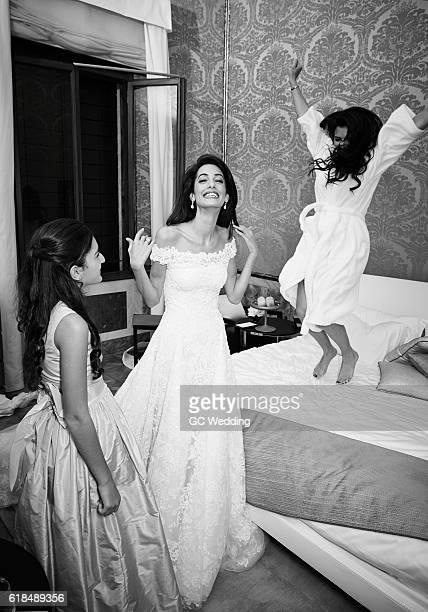 Mia Hamiya Amal Clooney Tala Alamuddin at the George Clooney and Amal Alamuddin Wedding on September 27 2014 in Venice Italy