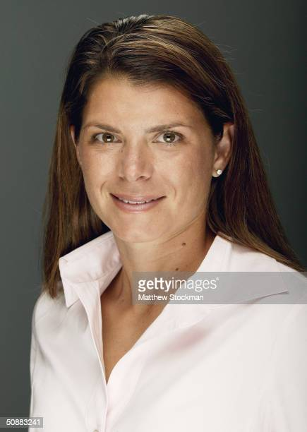 Mia Hamm poses for a portrait during the USOC Media Summit on May 14 2004 at the Marriott Marquis in New York New York