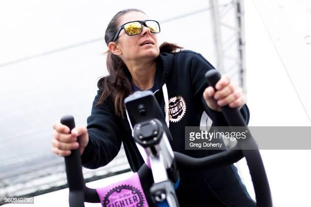 Mia Hamm rides at the 6th Annual Tour de Pier at Manhattan Beach Pier on May 20 2018 in Manhattan Beach California