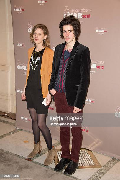 Mia Hansen Love and Clement Metayer attend the 'Cesar's Revelations 2013' Dinner Arrivals at Le Meurice on January 14 2013 in Paris France