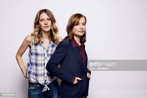 Mia HansenLove and Isabelle Huppert of the movie 'Things to Love' pose for a portrait at the Toronto International Film Festival for Los Angeles...