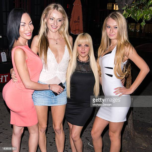 Mia Isabella Natasha Star Lexi Love and Natalia Star attend KinkE Magazine introducing Cover Girl Mia Isabella at Gaslight Lounge on September 29...