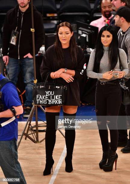 Mia Kang attends the New York Knicks Vs San Antonio Spurs game at Madison Square Garden on January 2 2018 in New York City