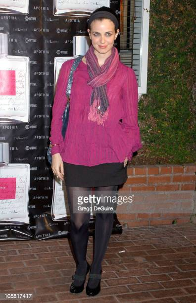 """Mia Kirshner during Launch of """"L Eau de Parfum"""" Inspired by Showtime's """"The L Word"""" - Arrivals at Apothia at Fred Segal Melrose in Los Angeles,..."""