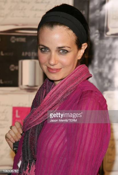 """Mia Kirshner during Launch Of """"L eau de parfum"""" Inspired by the TV Show """"The L Word"""" - Arrivals at Apothia at Fred Segal Melrose in West Hollywood,..."""