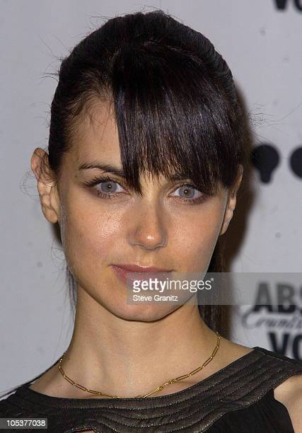 Mia Kirshner during The 15th GLAAD Media Awards Los Angeles Press Room at The Kodak Theatre in Hollywood California United States