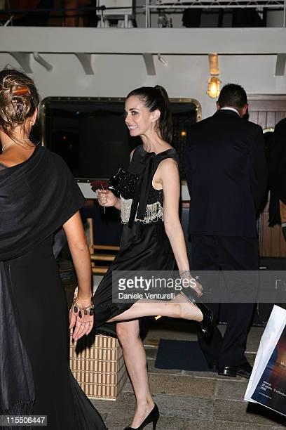 Mia Kirshner during The 63rd International Venice Film Festival Alberta Ferretti's Party in Venice Italy