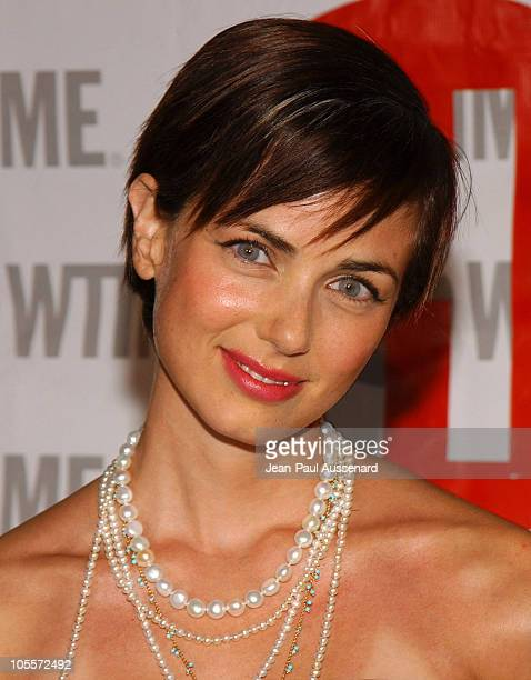 Mia Kirshner during 'The L Word' Showtime Network's Second Season Premiere at Directors Guild of America in Los Angeles California United States
