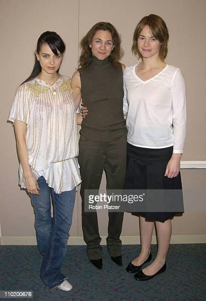 Mia Kirshner Ilene Chaiken executive producer and Leisha Hailey