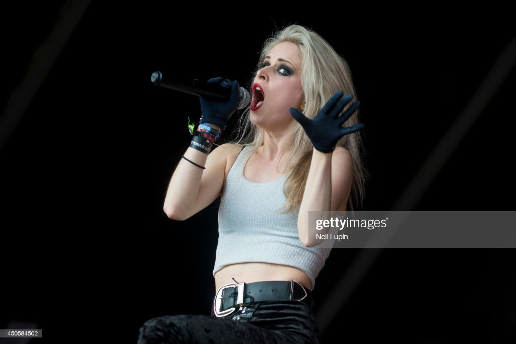 Mia Klose performs on stage at Download Festival at
