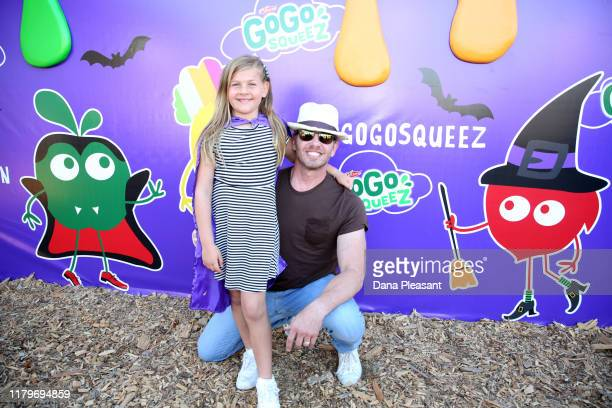 Mia Loren Ziering and Ian Ziering attend the GoGo squeeZ GoGoWeen Halloween Launch Event on October 07 2019 in Los Angeles California