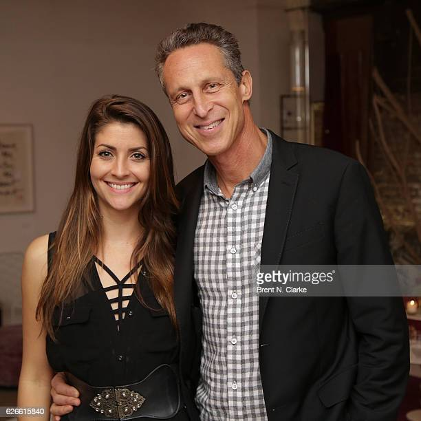 Mia Lux Koning and author Dr Mark Hyman attend Food Myths vs Food Facts with Dr Mark Hyman Anahad O'Connor held at ABC Home Carpet on November 29...