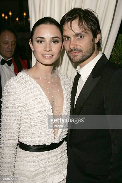 Mia Maestro and Ned benson at the La Plage Coste in Cannes France