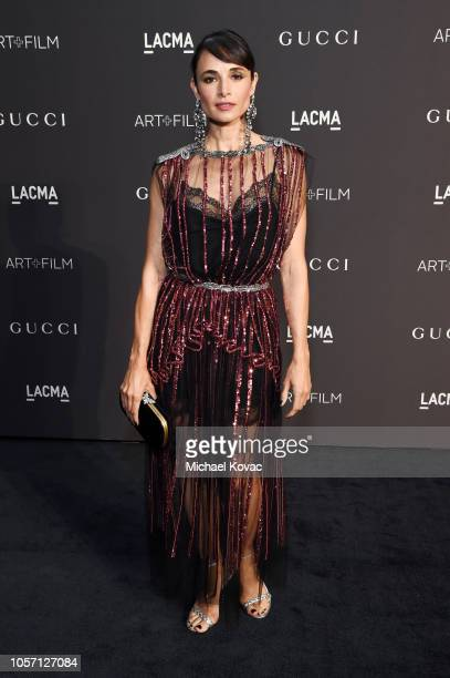 Mia Maestro attends 2018 LACMA Art Film Gala honoring Catherine Opie and Guillermo del Toro presented by Gucci at LACMA on November 3 2018 in Los...