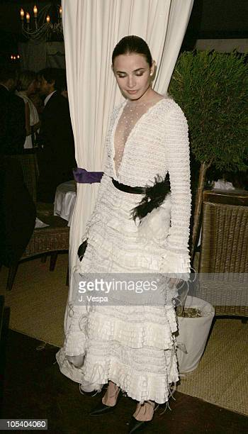 Mia Maestro during 2004 Cannes Film Festival 'Motorcycle Diaries' Party at La Plage Coste in Cannes France