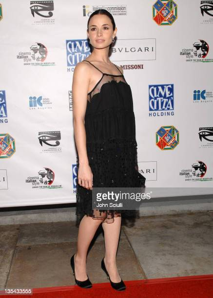 Mia Maestro during Opening Gala of Cinema Italian Style New Films from Italy at Egyptian Theatre in Los Angeles California United States
