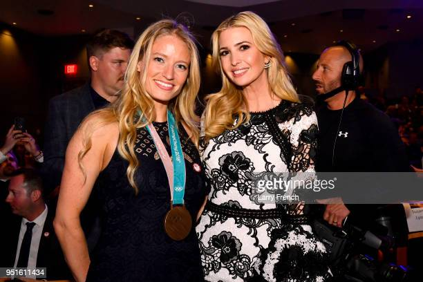Mia Manganello and Ivanka Trump attend the Team USA Awards at the Duke Ellington School of the Arts on April 26 2018 in Washington DC