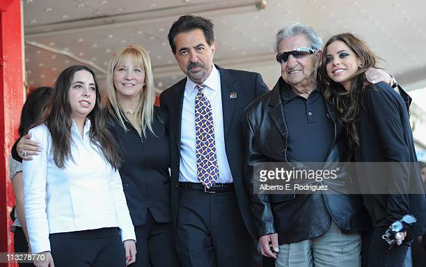 Mia Mantegna Arlene Mantegna actor Joe Mantegna Will Mantegna and actress Gia Mantegna attend the star ceremony honoring actor Joe Mantegna with the...