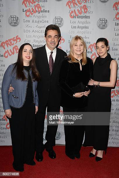 Mia Mantegna Joe Mantegna Arlene Vrhel and Gia Mantegna arrive at the National Arts and Entertainment Journalism Awards Gala at Millennium Biltmore...