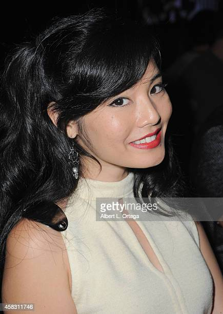 Mia Matsumiya attends the Season Finale For SyFy Channel's 'Faceoff' Season 7 Viewing Party held at The Parlor on October 28 2014 in West Hollywood...