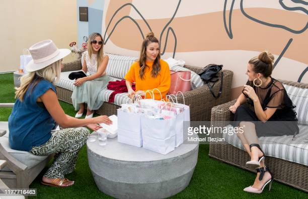 Mia Mesa Anna Vo Stuart Brazell and Rachel McCord wear custom Jewelry by Jimeye Designs at TAP visits The McCord List on September 27 2019 in Los...