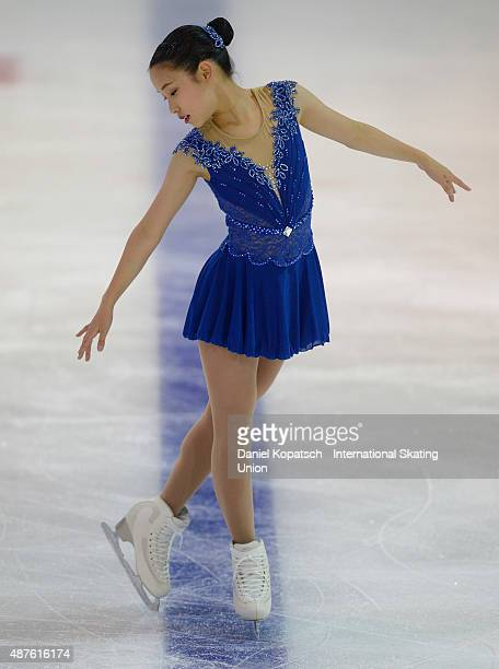 Mia Mihara of Japan skates during the junior ladies short program of the ISU Junior Grand Prix of figure skating on September 10 2015 in Linz Austria