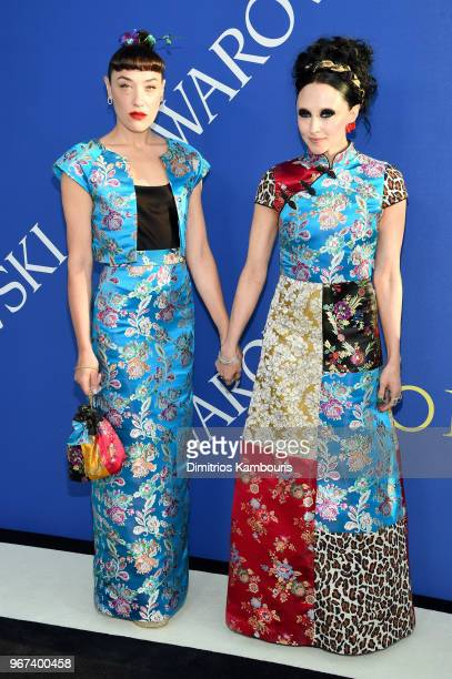 Mia Moretti and designer Stacey Bendet attends the 2018 CFDA Fashion Awards at Brooklyn Museum on June 4 2018 in New York City