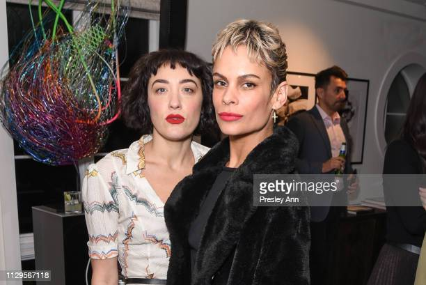 Mia Moretti and guest attend Oliver Peoples x Tasya van Ree Celebrates Who is Oliver Exhibition at LECLAIREUR on February 13 2019 in Los Angeles...