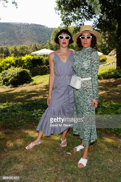 Mia Moretti and Jen Atkin attend Rosetta Getty's third annual Tuscany weekend at Villa Pipistrelli on July 1 2018 in Sovicille Italy