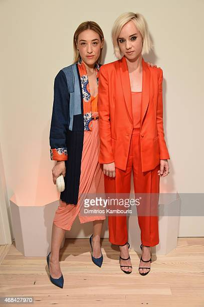 Mia Moretti and Margot attend Audi's Celebration of partnership with the Whitney Museum on April 2 2015 in New York City
