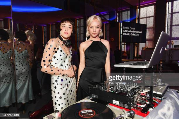 Mia Moretti and Margot attends the Lincoln Center Alternative Investment Industry Gala on April 16 2018 at The Rainbow Room in New York City