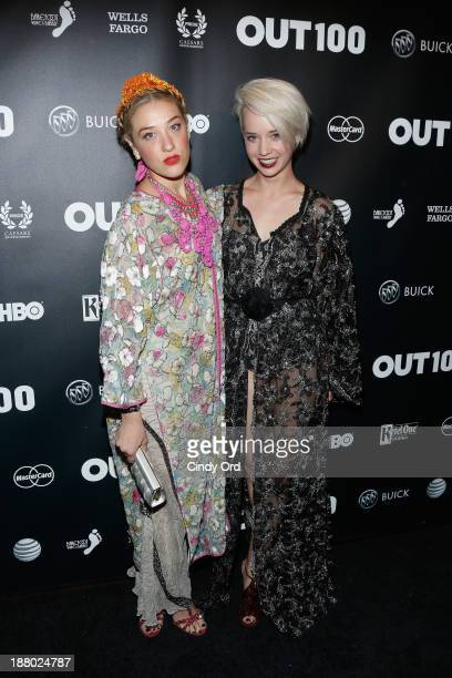 Mia Moretti and Margot of The Dolls attend the 19th Annual Out100 Awards presented by Buick at Terminal 5 on November 14 2013 in New York City