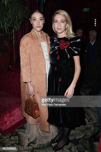 Mia Moretti and Sabine Ghanem attends the Sabine Ghanem New Jewellery Collection launch at the Mathis Paris Fashion Week Haute Couture S/S 2016 on...