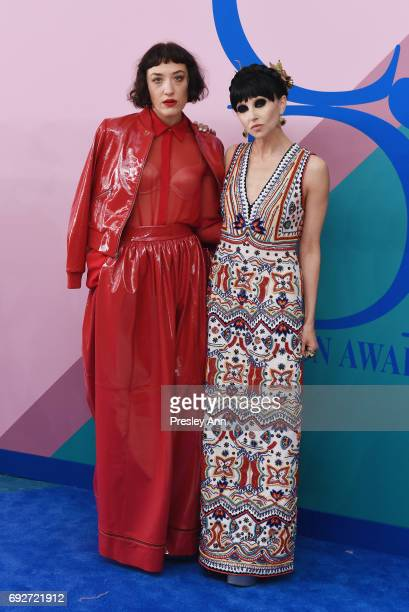 Mia Moretti and Stacey Bendet attend the 2017 CFDA Fashion Awards at Hammerstein Ballroom on June 5 2017 in New York City
