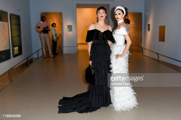 Mia Moretti and Stacey Bendet attend the CFDA Fashion Awards at the Brooklyn Museum of Art on June 03 2019 in New York City