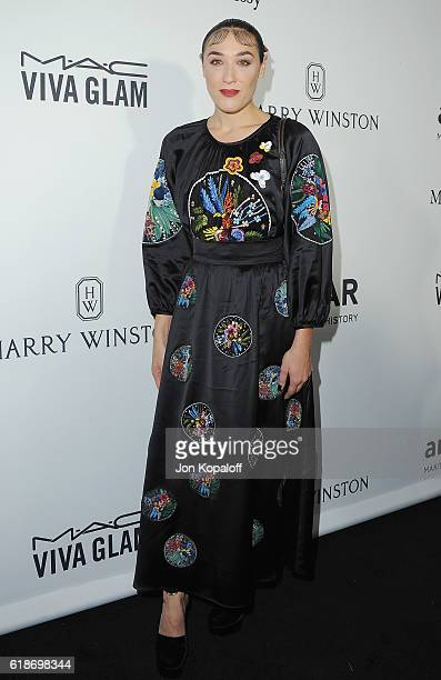 Mia Moretti arrives at amfAR's Inspiration Gala Los Angeles at Milk Studios on October 27 2016 in Hollywood California
