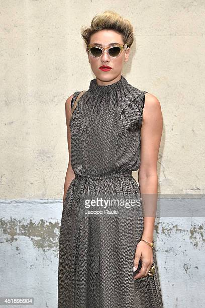 Mia Moretti arrives to attend the Maison Martin Margiela show as part of Paris Fashion Week Haute Couture Fall/Winter 20142015 on July 9 2014 in...