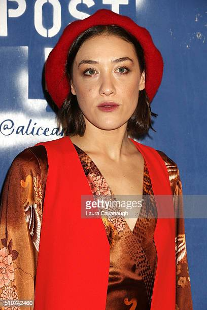 Mia Moretti attends Alice Olivia By Stacey Bendet Fall 2016 New York Fashion Week The Shows at The Gallery Skylight at Clarkson Sq on February 16...