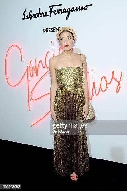 Mia Moretti attends Ferragamo Presents Gancio Studios Celebrating 100 Years In Hollywood at Gancio Studios on December 8 2015 in New York City