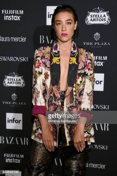 Mia Moretti attends Harper's BAZAAR Celebration of ICONS By Carine Roitfeld at The Plaza Hotel presented by Infor Laura Mercier Stella Artois...