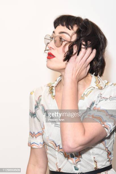 Mia Moretti attends Oliver Peoples x Tasya van Ree Celebrates Who is Oliver Exhibition at LECLAIREUR on February 13 2019 in Los Angeles California