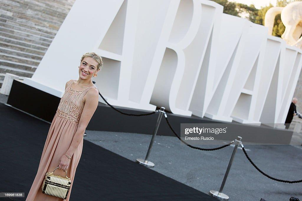 Mia Moretti attends 'One Night Only' hosted by Giorgio Armani at Museo Della Civilta Del Lavoro in Roma on June 5, 2013 in Rome, Italy.