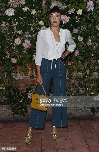 Mia Moretti attends Rebecca Taylor x Shopbop Denim launch dinner at The Waverly Inn on August 17 2016 in New York City