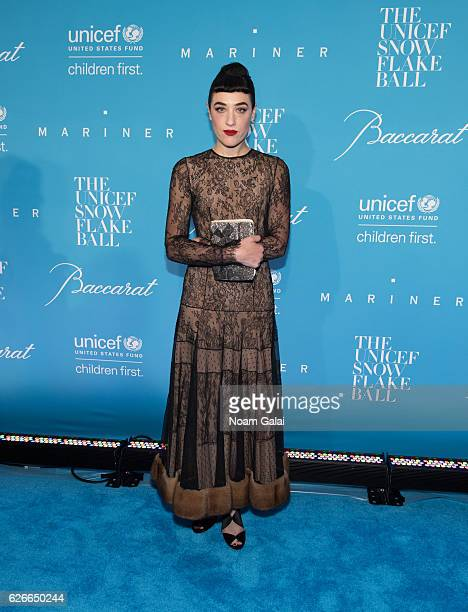 Mia Moretti attends the 12th Annual UNICEF Snowflake Ball at Cipriani Wall Street on November 29 2016 in New York City