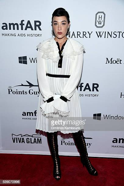 Mia Moretti attends the 7th Annual amfAR Inspiration Gala at Skylight at Moynihan Station on June 9 2016 in New York City